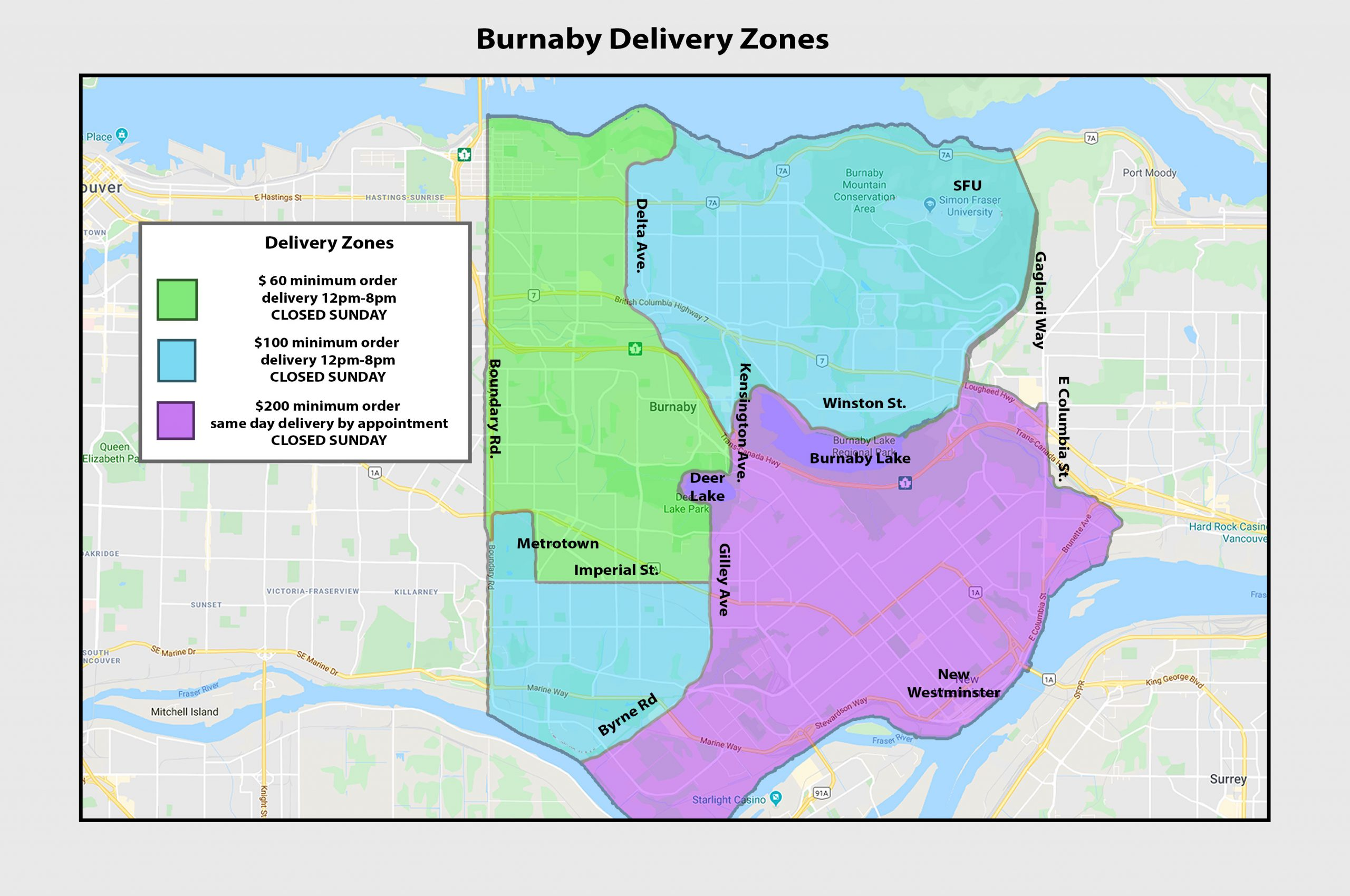 burnaby vancouver weed delivery map
